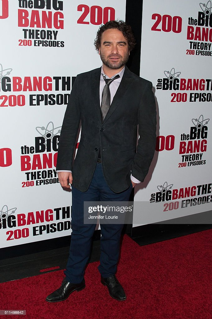 Actor Johnny Galecki arrives at the CBS's 'The Big Bang Theory' Celebrates 200th Episode at the Vibiana on February 20 2016 in Los Angeles California