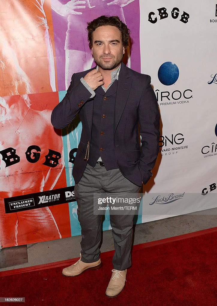 Actor Johnny Galecki attends a screening of Xlrator Media's 'CBGB' at ArcLight Cinemas on October 1, 2013 in Hollywood, California.