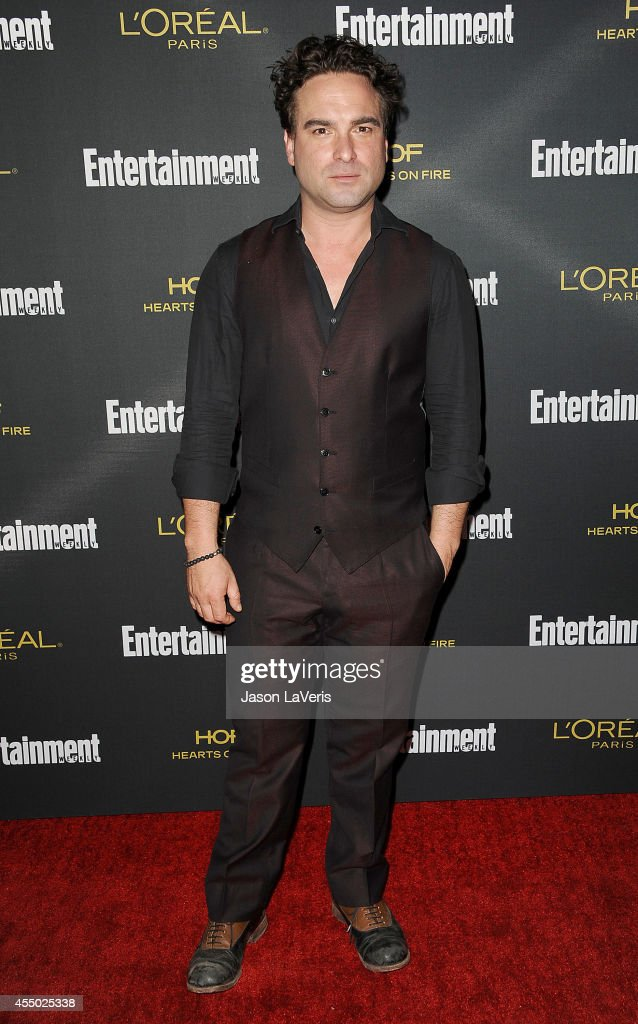 Actor <a gi-track='captionPersonalityLinkClicked' href=/galleries/search?phrase=Johnny+Galecki&family=editorial&specificpeople=832098 ng-click='$event.stopPropagation()'>Johnny Galecki</a> attends the 2014 Entertainment Weekly pre-Emmy party at Fig & Olive Melrose Place on August 23, 2014 in West Hollywood, California.