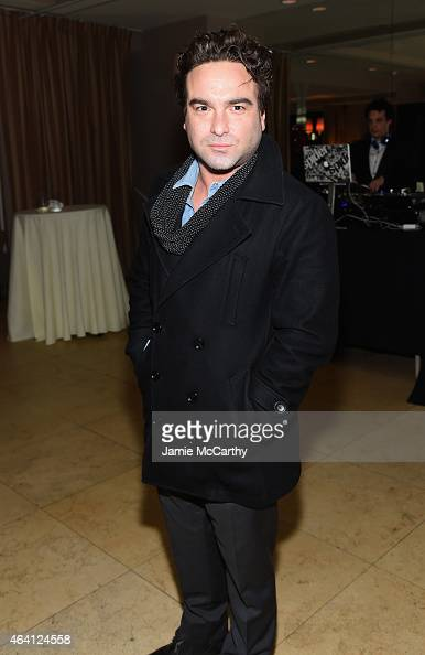 Actor Johnny Galecki attends the Grey Goose hosted Michael Sugar Doug Wald and Warren Zavala preoscar party at Sunset Tower on February 21 2015 in...