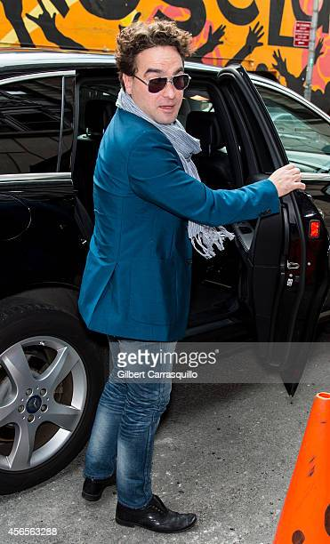 Actor Johnny Galecki is seen arriving to the 'Late Show With David Letterman' taping at the Ed Sullivan Theateron October 2 2014 in New York City