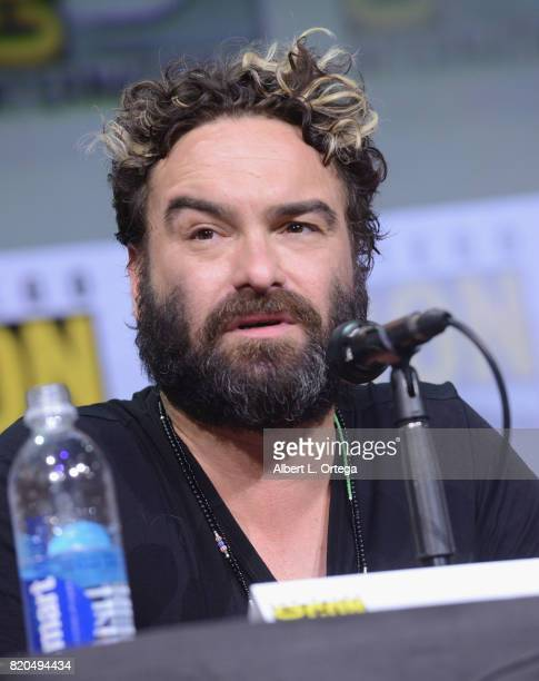 Actor Johnny Galecki speaks onstage at ComicCon International 2017 'The Big Bang Theory' panel at San Diego Convention Center on July 21 2017 in San...
