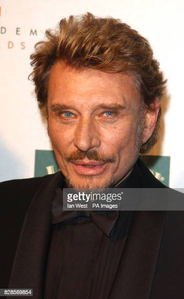 Actor Johnny Hallyday during the European Film Awards 2002 at the Teatro dell'Opera di Roma Rome Italy