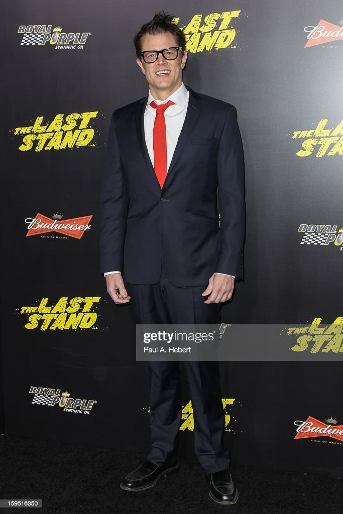 Actor <a gi-track='captionPersonalityLinkClicked' href=/galleries/search?phrase=Johnny+Knoxville&family=editorial&specificpeople=206210 ng-click='$event.stopPropagation()'>Johnny Knoxville</a> arrives at the premiere of Lionsgate Films' 'The Last Stand' held at Grauman's Chinese Theatre on January 14, 2013 in Hollywood, California.