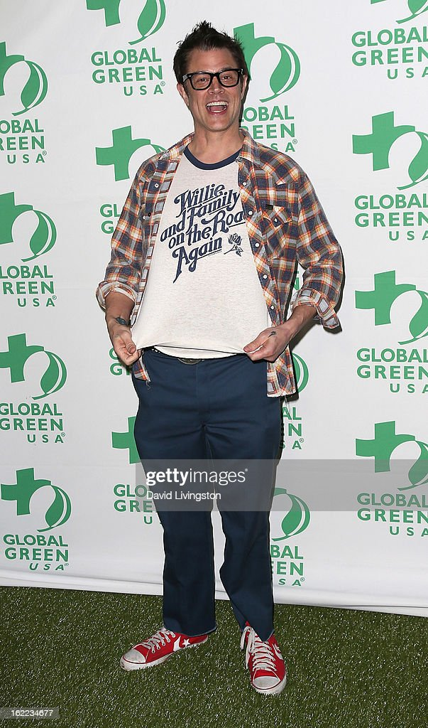 Actor <a gi-track='captionPersonalityLinkClicked' href=/galleries/search?phrase=Johnny+Knoxville&family=editorial&specificpeople=206210 ng-click='$event.stopPropagation()'>Johnny Knoxville</a> attends Global Green USA's 10th Annual Pre-Oscar Party at Avalon on February 20, 2013 in Hollywood, California.