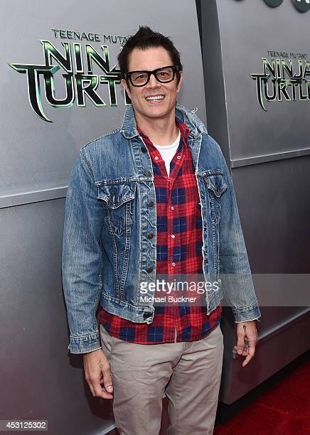 Actor Johnny Knoxville attends the premiere of Paramount Pictures' 'Teenage Mutant Ninja Turtles' at Regency Village Theatre on August 3 2014 in...