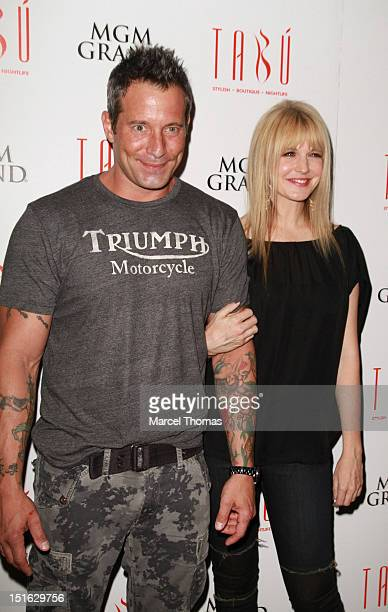 Actor Johnny Messner and actress Kathryn Morris celebrates the DVD release of the movie 'She Wants Me' at Tabu Ultra Lounge at MGM Grand on September...