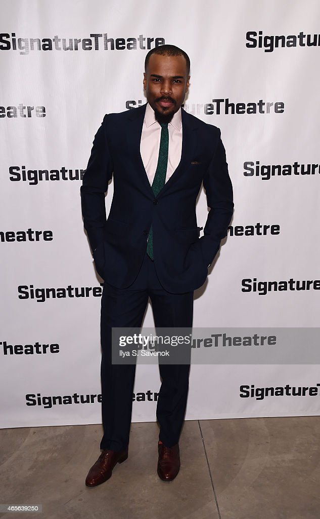 Actor Johnny Ramey attends 'The Liquid Plane' Opening Night Party at Signature Theatre Company's The Pershing Square Signature Center on March 8, 2015 in New York City.