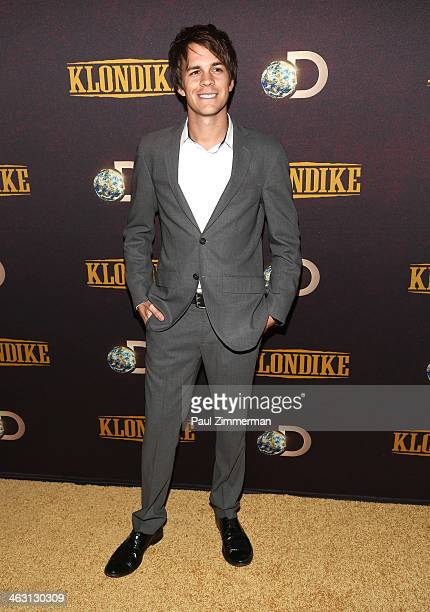 Actor Johnny Simmons attends the 'Klondike' series premiere at Best Buy Theater on January 16 2014 in New York City
