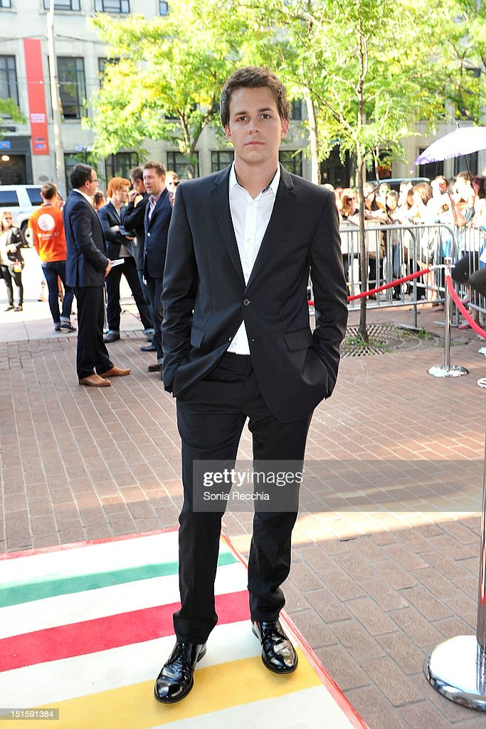 Actor Johnny Simmons attends 'The Perks Of Being A Wallflower' premiere during the 2012 Toronto International Film Festival at Ryerson Theatre on September 8, 2012 in Toronto, Canada.