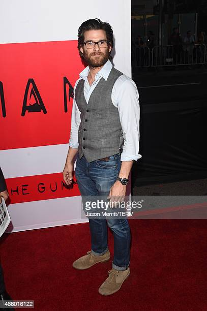 Actor Johnny Whitworth attends the premiere of Open Road Films' 'The Gunman' at Regal Cinemas LA Live on March 12 2015 in Los Angeles California