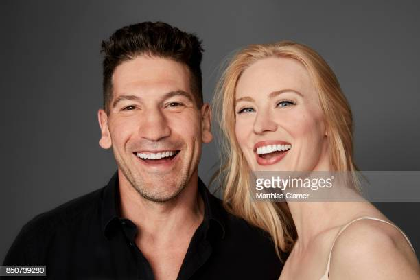 Actor Jon Bernthal and actress Deborah Ann Woll from Marvel's The Punisher are photographed for Entertainment Weekly Magazine on July 21 2017 at...