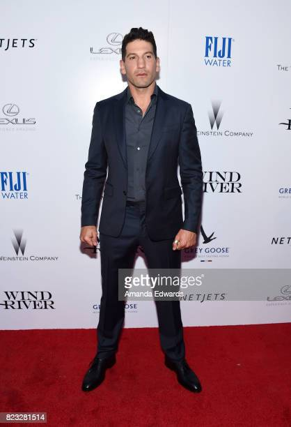 Actor Jon Bernthal arrives at the premiere of The Weinstein Company's 'Wind River' at The Theatre at Ace Hotel on July 26 2017 in Los Angeles...