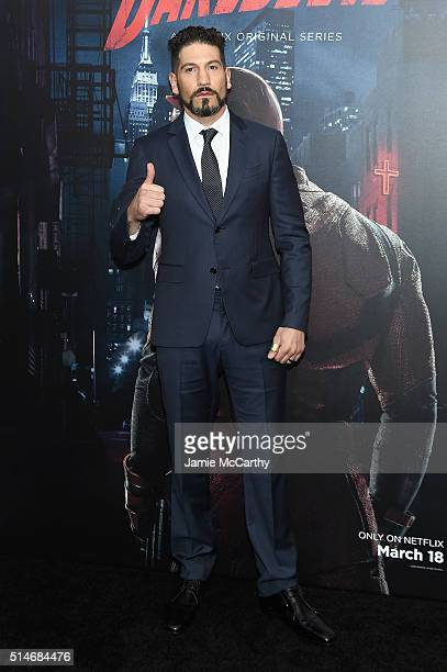 Actor Jon Bernthal attends the 'Daredevil' Season 2 Premiere at AMC Loews Lincoln Square 13 theater on March 10 2016 in New York City