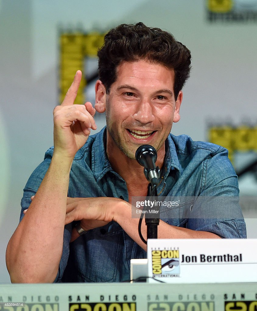 Actor <a gi-track='captionPersonalityLinkClicked' href=/galleries/search?phrase=Jon+Bernthal&family=editorial&specificpeople=633077 ng-click='$event.stopPropagation()'>Jon Bernthal</a> attends the Entertainment Weekly: Brave New Warriors panel during Comic-Con International 2014 at the San Diego Convention Center on July 25, 2014 in San Diego, California.