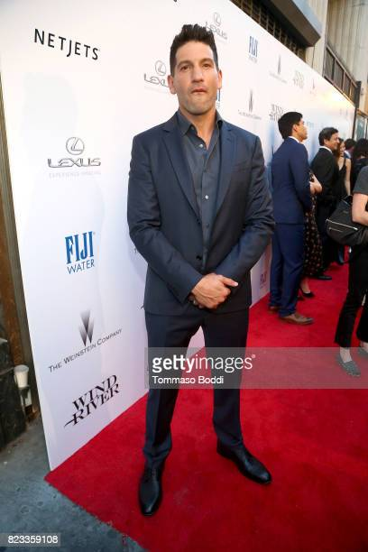 Actor Jon Bernthal attends the 'Wind River' Los Angeles Premiere presented in partnership with FIJI Water at Ace Hotel Los Angeles on July 26 2017 in...