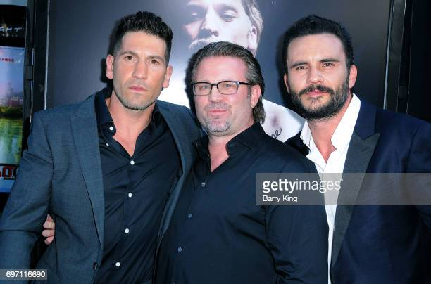 Actor Jon Bernthal director Ric Roman Waugh and actor Juan Pablo Raba attend the 2017 Los Angeles Film Festival Gala Screening Of 'Shot Caller' at...