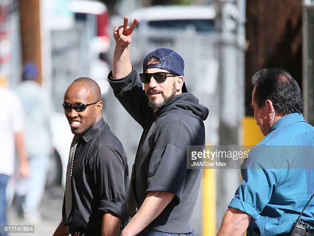 Actor Jon Bernthal is seen at 'Jimmy Kimmel Live' on March 23 2016 in Los Angeles California