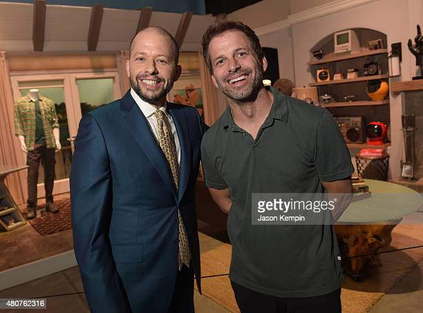 Actor Jon Cryer and director Zach Snyder attend the Warner Bros Studio Tour Hollywood Expansion Official Unveiling Stage 48 Script To Screen at...