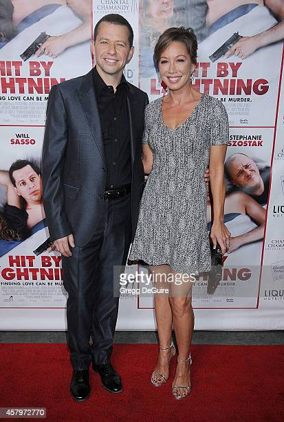 Actor Jon Cryer and wife Lisa Joyner arrive at the Los Angeles premiere of 'Hit By Lightning' at ArcLight Hollywood on October 27 2014 in Hollywood...