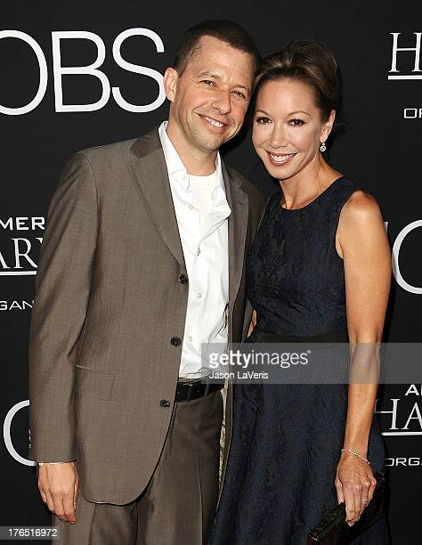 Actor Jon Cryer and wife Lisa Joyner attend the premiere of 'Jobs' at Regal Cinemas LA Live on August 13 2013 in Los Angeles California