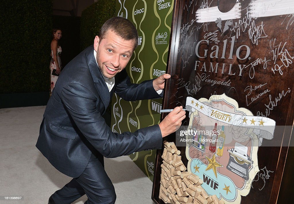 Actor <a gi-track='captionPersonalityLinkClicked' href=/galleries/search?phrase=Jon+Cryer&family=editorial&specificpeople=213483 ng-click='$event.stopPropagation()'>Jon Cryer</a> attends Variety & Women In Film Pre-Emmy Event presented by Yoplait Greek at Scarpetta on September 20, 2013 in Beverly Hills, California.