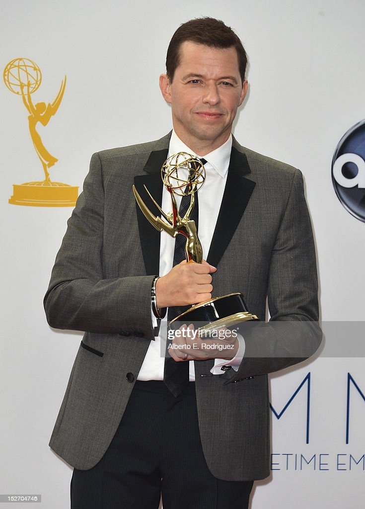 Actor Jon Cryer poses in the 64th Annual Emmy Awards press room at Nokia Theatre L.A. Live on September 23, 2012 in Los Angeles, California.