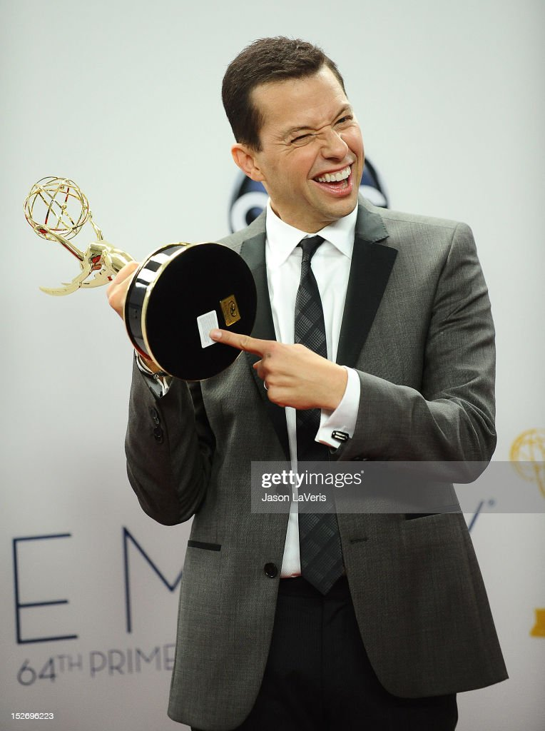Actor <a gi-track='captionPersonalityLinkClicked' href=/galleries/search?phrase=Jon+Cryer&family=editorial&specificpeople=213483 ng-click='$event.stopPropagation()'>Jon Cryer</a> poses in the press room at the 64th Primetime Emmy Awards at Nokia Theatre L.A. Live on September 23, 2012 in Los Angeles, California.