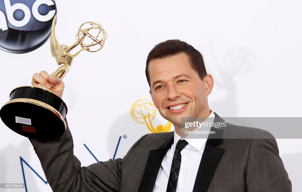 Actor <a gi-track='captionPersonalityLinkClicked' href=/galleries/search?phrase=Jon+Cryer&family=editorial&specificpeople=213483 ng-click='$event.stopPropagation()'>Jon Cryer</a> poses in the press room at the 64th Primetime Emmy Awards held at Nokia Theatre L.A. Live on September 23, 2012 in Los Angeles, California.