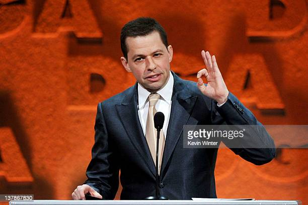 Actor Jon Cryer speaks onstage during the 64th Annual Directors Guild Of America Awards held at the Grand Ballroom at Hollywood Highland on January...