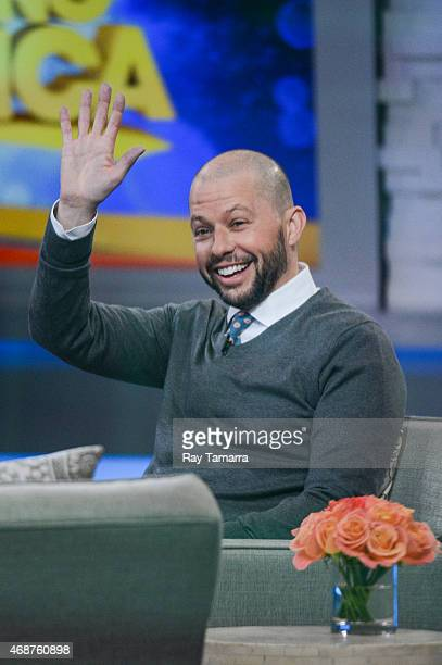 Actor Jon Cryer tapes an interview at the 'Good Morning America' taping at the ABC Times Square Studios on April 6 2015 in New York City