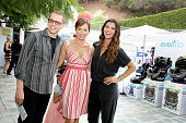 Actor Jon Cryer wife TV personality Lisa Joyner and host Ali Landry attend Favordby's 3rd annual Red CARpet Safety Awareness Event presented by...
