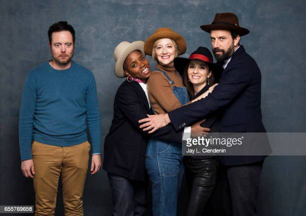 Actor Jon Daly director Janicza Bravo actress Judy Greer actress Shiri Appleby actor Brett Gelman from the film Lemon are photographed at the 2017...