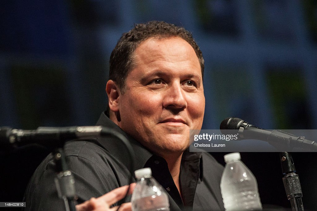 Actor <a gi-track='captionPersonalityLinkClicked' href=/galleries/search?phrase=Jon+Favreau&family=editorial&specificpeople=239483 ng-click='$event.stopPropagation()'>Jon Favreau</a> attends the 'Iron Man 3' panel at San Diego Convention Center on July 14, 2012 in San Diego, California.