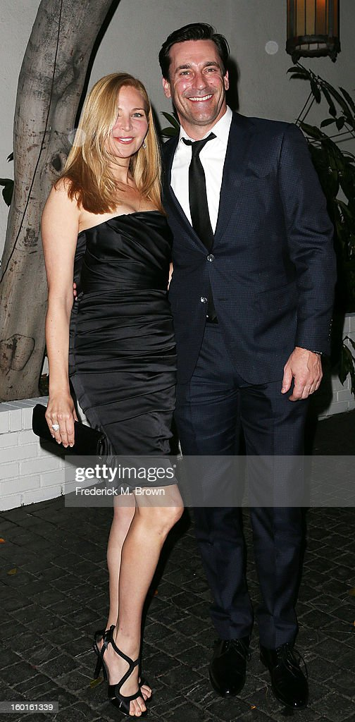 Actor Jon Hamm (R) and his guest attend Entertainment Weekly Screen Actors Guild Awards Pre-Party at Chateau Marmont on January 26, 2013 in Los Angeles, California.