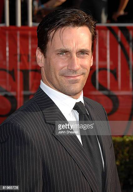 Actor Jon Hamm arrives at the 2008 ESPY Awards held at NOKIA Theatre LA LIVE on July 16 2008 in Los Angeles California The 2008 ESPYs will air on...