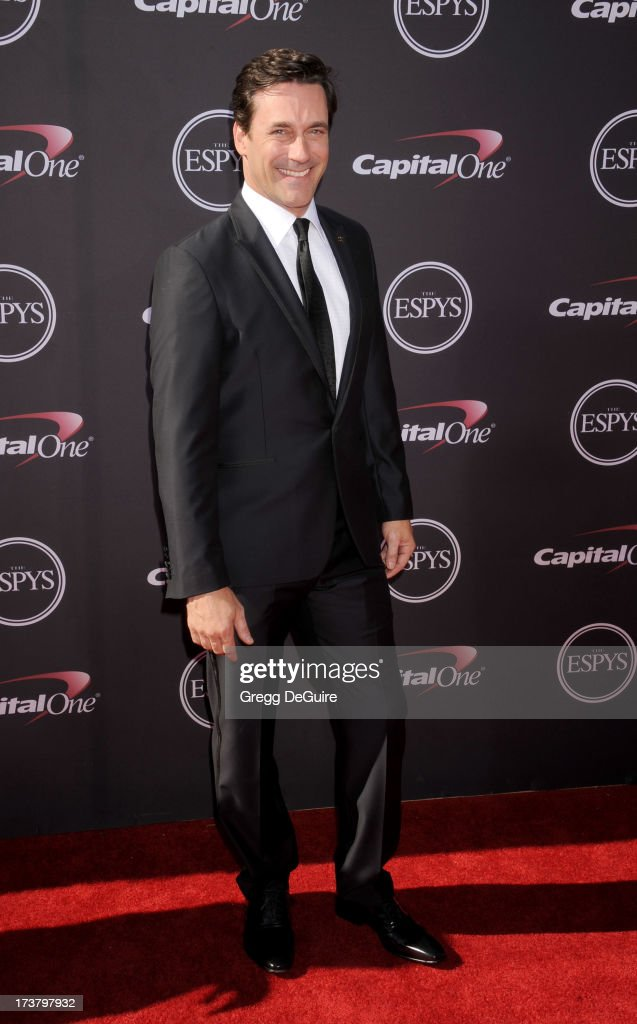 Actor Jon Hamm arrives at the 2013 ESPY Awards at Nokia Theatre L.A. Live on July 17, 2013 in Los Angeles, California.