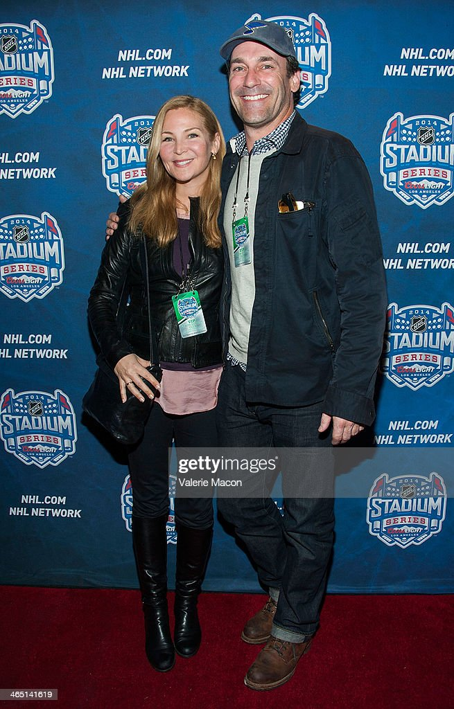 Actor <a gi-track='captionPersonalityLinkClicked' href=/galleries/search?phrase=Jon+Hamm&family=editorial&specificpeople=3027367 ng-click='$event.stopPropagation()'>Jon Hamm</a> arrives at the 2014 Coors Light NHL Stadium Series Los Angeles at Dodger Stadium on January 25, 2014 in Los Angeles, California.