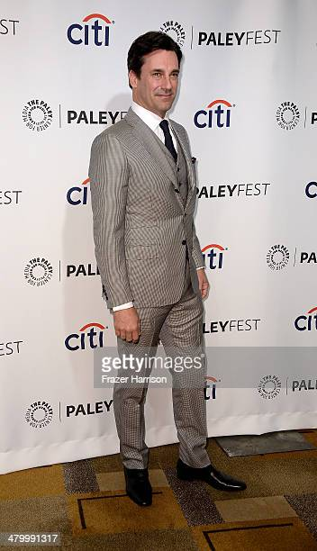 Actor Jon Hamm arrives at The Paley Center For Media's PaleyFest 2014 Honoring 'Mad Men' at Dolby Theatre on March 21 2014 in Hollywood California