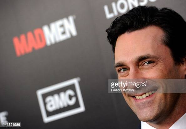 Actor Jon Hamm arrives at the Premiere of AMC's 'Mad Men' Season 5 at ArcLight Cinemas on March 14 2012 in Hollywood California