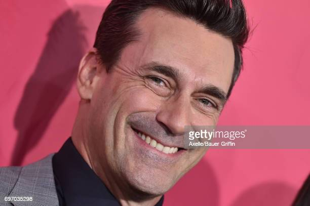 Actor Jon Hamm arrives at the premiere of 'Baby Driver' at Ace Hotel on June 14 2017 in Los Angeles California