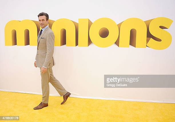 Actor Jon Hamm arrives at the premiere of Universal Pictures and Illumination Entertainment's 'Minions' at The Shrine Auditorium on June 27 2015 in...