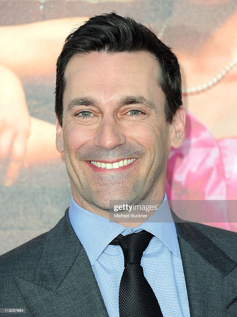 Actor <a gi-track='captionPersonalityLinkClicked' href=/galleries/search?phrase=Jon+Hamm&family=editorial&specificpeople=3027367 ng-click='$event.stopPropagation()'>Jon Hamm</a> arrives at the Premiere of Universal Pictures' 'Bridesmaids' at the Mann Village Theatre on April 28, 2011 in Westwood, California.