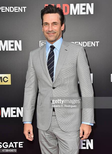 Actor Jon Hamm attends AMC Film Independent and Lionsgate Present 'Mad Men' Live Read at The Theatre at Ace Hotel Downtown LA on May 17 2015 in Los...