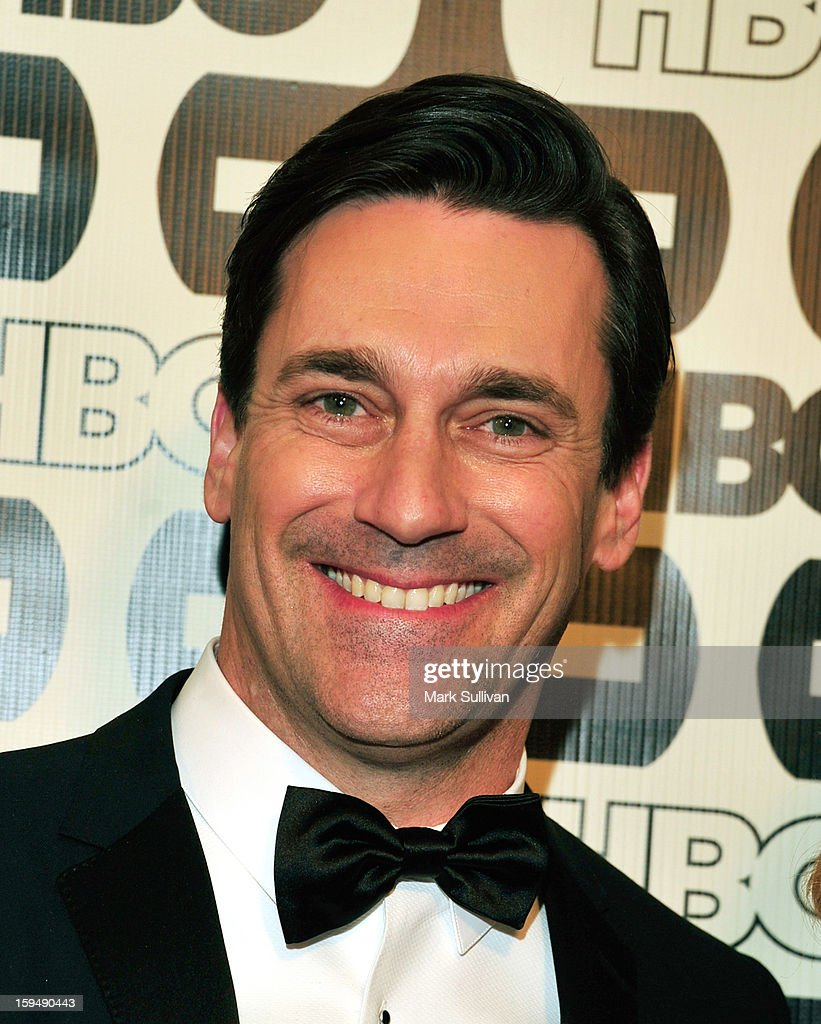 Actor <a gi-track='captionPersonalityLinkClicked' href=/galleries/search?phrase=Jon+Hamm&family=editorial&specificpeople=3027367 ng-click='$event.stopPropagation()'>Jon Hamm</a> attends HBO's 70th Annual Golden Globes after party at Circa 55 Restaurant on January 13, 2013 in Los Angeles, California.