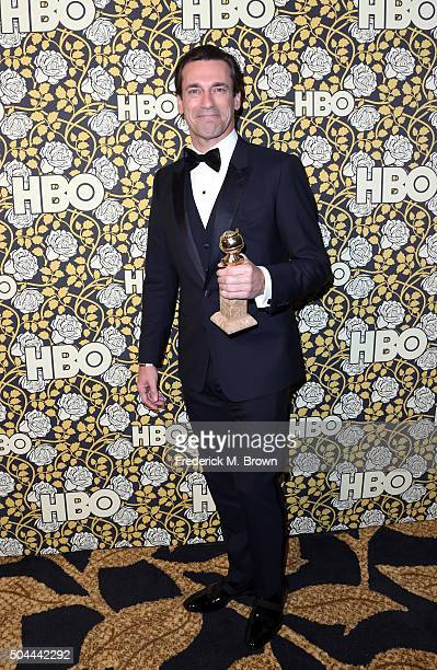 Actor Jon Hamm attends HBO's Post 2016 Golden Globe Awards Party at Circa 55 Restaurant on January 10 2016 in Los Angeles California