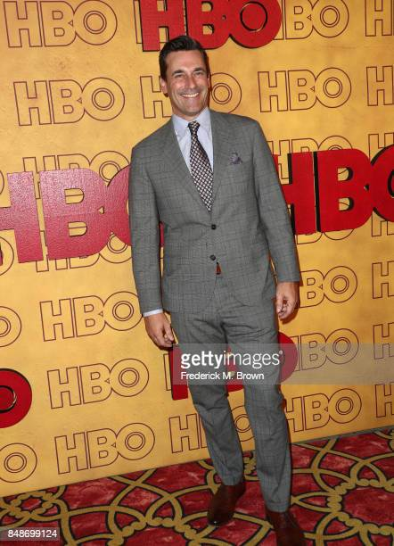 Actor Jon Hamm attends HBO's Post Emmy Awards Reception at The Plaza at the Pacific Design Center on September 17 2017 in Los Angeles California