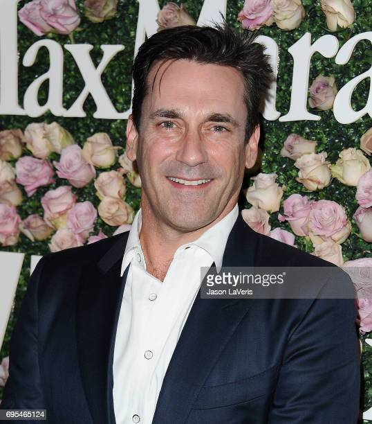 Actor Jon Hamm attends Max Mara and Vanity Fair's celebration of Women In Film's Face of the Future Award recipient Zoey Deutch at Chateau Marmont on...