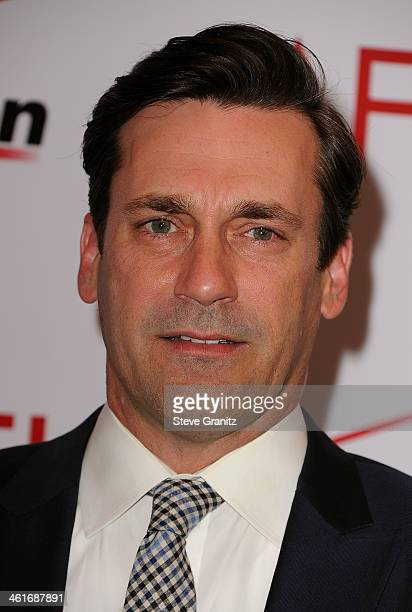 Actor Jon Hamm attends the 14th annual AFI Awards Luncheon at the Four Seasons Hotel Beverly Hills on January 10 2014 in Beverly Hills California