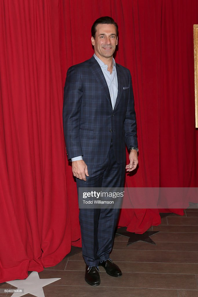 Actor Jon Hamm attends the 16th Annual AFI Awards at Four Seasons Hotel Los Angeles at Beverly Hills on January 8, 2016 in Beverly Hills, California.